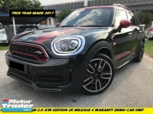 2018 MINI JOHN COOPER WORKS JCW COUNTRYMAN 2.0 JCW LOCAL 4 YEAR WARRANTLY AND FREE SERVICE 2K MILEAGE DEMO CAR UNIT