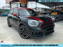 2017 MINI Countryman  ALL4 JCW LOCAL SPEC UNDER BMW WARRANTY FREE SERVICE 2K MILEAGE  -- DEMO UNIT