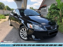 2010 LEXUS IS250 HIGH SPEC 2.6 V6 ORIGINAL PART LIKE NEW CONDITION SHOWROOM 1 OWNER