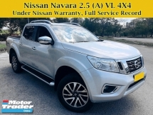 2018 NISSAN NAVARA NP300 2.5 (A) VL Full Service Under Warranty 4X4 4WD Pick Up