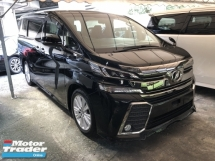 2016 TOYOTA VELLFIRE Unreg Toyota Vellfire ZA 2.5 7seats Sunroof 360view PowerBoot Push Start 7G