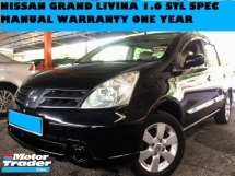 2010 NISSAN GRAND LIVINA 1.6 (MT) MPV CAR FULL LEATHER SEATS WARRANTY ONE YEAR FREE