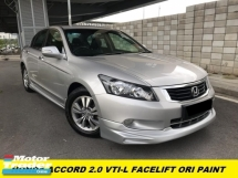 2012 HONDA ACCORD 2.0 VTi-L FACELIFT ELECTRONIC SEAT FULL SPEC FULL LOAN