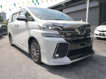 2016 TOYOTA VELLFIRE 2.5 ZG Edition NAPPA Leather FULL ALPINE Pre Crash Sun Roof
