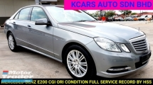 2013 MERCEDES-BENZ E-CLASS E200 FREE 1 YRS WARRANTY