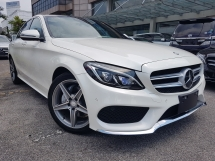 2015 MERCEDES-BENZ C-CLASS 2015 Mercedes C200 AMG W205 Japan Spec Panaromic Roof Power Boot Head Up Display Full Leather Unregister for sale