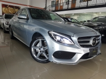 2015 MERCEDES-BENZ C-CLASS 2015 Mercedes C200 AMG W205 Japan Spec Panaromic Roof Head Up Display Power Boot Full Leather Unregister for sale