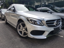 2015 MERCEDES-BENZ C-CLASS 2015 Mercedes C200 AMG W205 Japan Spec Power Boot Head Up Display Full Leather Unregister for sale