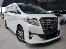 2015 TOYOTA ALPHARD 2015 Toyota Alphard 3.5 GF Pilot Seat Full Leather Power Boot 4 Camera modelista bodykits Unregister for sale