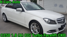 2014 MERCEDES-BENZ C-CLASS C250 W204 1.8 AMG CGI TURBO FACELIFT LIKE NEW CAR CONDITION FULL SERVICE BY MERCEDES HAP SENG STAR BALAKONG