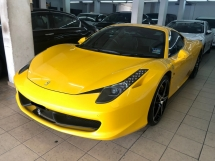 2010 FERRARI 458 458 Italia V8 Original 17000 KM Fully Import Full Service Records with NAZA ITALIA Malaysia Fully Loaded Lifting System JBL Surround Ceramic Brembo Carbon Paddle Shift Steering Power Bucket Seat Reverse Camera Daytime Xenon LED