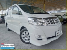 2007 TOYOTA ALPHARD REG 2012 3.0 (A) MZG MPV 7 SEATER CLEAN INTERIOR ACC FREE GOOD CONDITION PROMOTION PRICE.