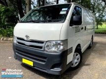 2013 TOYOTA HIACE 2.5 (M) PANEL VAN TURBODIESEL GREEN ENGINE 1 OWN