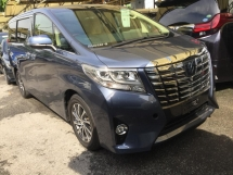 2015 TOYOTA ALPHARD Unregistered Toyota Alphard 2.5cc G-spec (Blue/2015) Full Specs