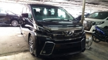 2015 TOYOTA VELLFIRE Unregistered Toyota Vellfire 2.5cc ZG (Black/2015) Basic spec