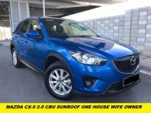 2015 MAZDA CX-5 2.0 CBU SUNROOF FULL LEATHER SEAT HD REVERSE CAMERA NAVI ONE HOUSE WIFE ONWER 4 TAYAR 95% CONDITION GOOD