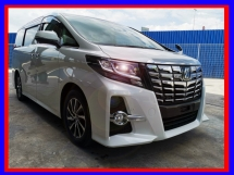 2016 TOYOTA ALPHARD 2.5S 8 SEATER FREE LOCAL PLAYER,  ROOF MONITOR - UNREG