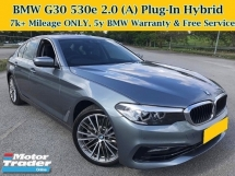 2018 BMW 5 SERIES G30 530e 2.0 (A) 7k Mileage ONLY Under BMW 5Y Warranty N Free Service