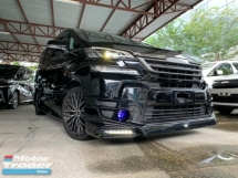 2015 TOYOTA VELLFIRE 2.5 ZA TRD BODYKIT 2 POWER DOOR 7 SEATER UNREG 1 YEAR WARRANTY