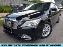 2015 TOYOTA CAMRY 2.5 v Full Spec Keyless Entry Leather Seat Low Mileage One Owner Free Accident