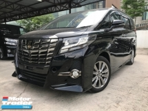 2016 TOYOTA ALPHARD 2.5 TYPE GOLD JBL 4 SURROUND CAMERA HOME THEATRE UNREG