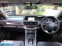 2016 HONDA ACCORD 2.0 VTI-L HIGH SPEC FULL LEATHER SEAT NAVI HD REVERE CAMERA COMFORTABLE CAR ONE TEACHER OWNER BEFORE FULL SERVISE RECORD HONDA LOW MILEAGE