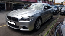 2013 BMW 5 SERIES 528I M-SPORTS (A) REG 2013, CKD, ONE DIRECTOR OWNER, FULL SERVICE RECORD, LOW MILEAGE DONE 98K KM, FREE 1 YEAR GMR CAR WARRANTY