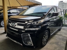 2015 TOYOTA VELLFIRE 2.5 ZG Pilot Seat 2 power doors 4 camera Power Boot Unreg