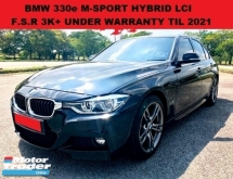 2017 BMW 3 SERIES 330E F30 2.0 M-SPORT LCI eDRIVE SEDAN(A) HYBRID F.S.R 3K+ MILEAGE UNDER WARRANTY TIL 2021 328I