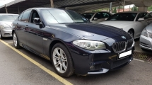 2013 BMW 5 SERIES 528I M-SPORTS (A) REG 2013, CKD, ONE CAREFUL OWNER, FULL SERVICE RECORD, LOW MILEAGE DONE 73K KM, FREE 1 YEAR GMR CAR WARRANTY