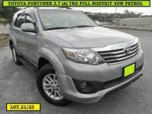 2012 TOYOTA FORTUNER 2.7V TRD SPORTIVO TRD SPEC PETROL MPV CAR FULL LEATHER SEATS FACELIFT SUV FREE WARRANTY