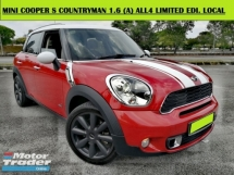 2013 MINI Cooper COUNTRYMAN S 1.6 (A) ALL4 Cooper S  LIMITED EDITION FREE WARRANTY