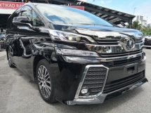 2016 TOYOTA VELLFIRE 2.5 ZG Edition = NAPPA LEATHER = PRE CRASH = FULL SET ALPINE = SUN ROOF =