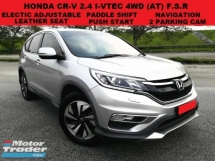 2015 HONDA CR-V 2.4 (A) 4WD facelift full service record under warranty leather seat paddle shift navigation 2 parking cam