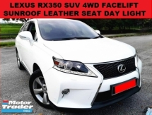2009 LEXUS RX350 3.5 FACELIFT (A) 4WD SUV SUNROOF LEATHER SEAT MEMORY SEAT PUSH START POWER BOOT