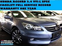 2011 HONDA ACCORD 2.4 CC FACELIFT MODEL POWER SEAT FULL SERVICE RECORD VTIL