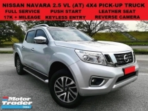 2017 NISSAN NAVARA NP300 2.5 VL 4X4 4WD PICK UP (A) FULL SERVICE RECORD 17K+ UNDER WARRANTY PUSH START LEATHER SEAT REV