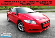 2012 HONDA CR-Z 1.5 HYBRID CVT (A) FULL BODY KIT PADDLE SHIFT SPORT & ECO MODE MULTI FUNCTION STEERING