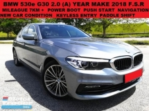 2018 BMW 5 SERIES 530E SPORT G30 2.0 (A) SEDAN FULL SERVICE RECORD 7K+ UNDER WARRANTY NEW CAR CONDITION LEATHER SEAT P