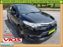 2013 TOYOTA VIOS 1.5 VVT-i (AT) G-SPEC Full TRD Bodykit Leather DVD P/Start
