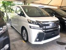 2016 TOYOTA VELLFIRE 2.5 ZA Edition 4 Surround Camera 7 Seat Automatic Power Boot Sun Roof Moon Roof 2 Power Door Intelligent Bi LED Smart Entry Push Start 3 Zone Climate Auto Cruise Multi Function Steering Bluetooth Connectivity 9 Air Bag Unreg