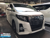 2017 TOYOTA ALPHARD Unreg Toyota Alphard SC 2.5 Pilot 7seats 360view Sunroof PowerBoot Keyless Push Start 7G