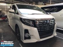 2017 TOYOTA ALPHARD Unreg Toyota Alphard SC 2.5 Pilot 7seats 360view Sunroof PowerBoot Keyless Push Start 7G