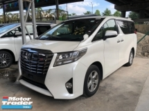 2016 TOYOTA ALPHARD Unreg Toyota Alphard X 8seather 360view 2PD PowerBoot Keyless Push Start 7G
