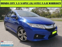 2015 HONDA CITY 1.5 i-VTEC (A) V SPEC F.S.R UNDER WARRANTY HI-SEPC DVD P/START
