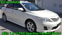 2012 TOYOTA COROLLA ALTIS 1.8 G FACELIFT DVVT-i 7 SPEED CBU IMPORT NEW KEEP LIKE NEW CAR