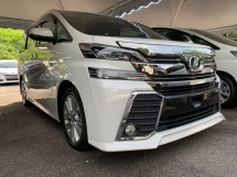 2015 TOYOTA VELLFIRE 2.5 ZA SUNROOF 2 POWER DOOR 7 SEATER UNREG 1 YEAR WARRANTY