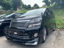 2014 TOYOTA VELLFIRE 2.4 GOLDENEYE II SUNROOF 2 POWER DOOR AND BOOT HALF LEATHER UNREG