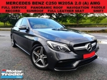 2016 MERCEDES-BENZ C-CLASS 2.0 W205A AMG (A) SEDAN (A) FULL SERVICE RECORD UNDER WARRANTY PADDLE SHIFT PANORAMIC ROOF P/START
