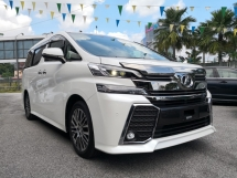 2015 TOYOTA VELLFIRE 2.5 ZG Edition Demo Unit 8k Mileage